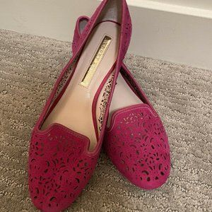 Audrey Brooke Professional Casual Pink Loafer Flat